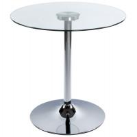 Foot - Sofabord med klar glastop, kromfod