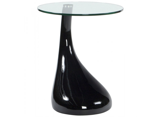 Foot - Sort fiberglas med glas top