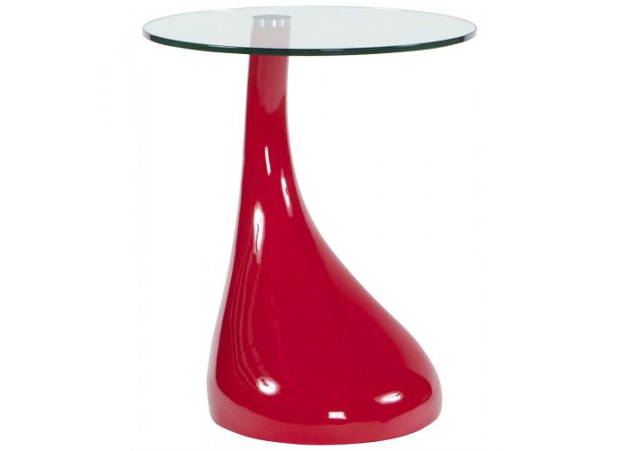 Foot - Rødt fiberglas med glas top